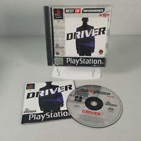Driver Playstation PS1 Action Video Game Manual PAL