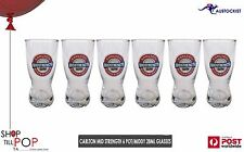 Carlton Mid Strength Beer x 6 Glasses 285ml Pot Middy Aussie Carlton BNWOB Aussi