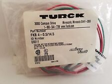Turck FKB 4-0.5/14.5 FKB4-0.5/14.5 U9511 Microfast Receptacle Connector Cable