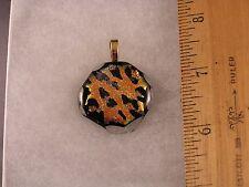 Leopard Spots Animal Print Glass Pendant GA04 Fred Flintstone Look!