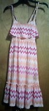 JUICY COUTURE GIRLS PINK AND ORANGE STRIPED DRESS SIZE L/G