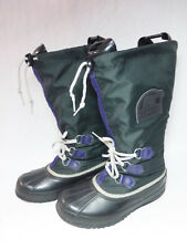 Womens Sorel Kaufman Black With Purple Accents Snow Winter Boots - Size 8