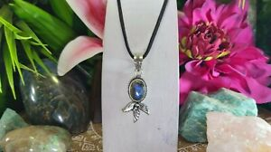 Labradorite Intuition & Protection Pendant 925 Sterling Silver Plated (E991)