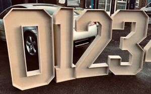 GIANT MDF FREE-STANDING NUMBERS 0-9 BIRTHDAY DECORATION SIGN