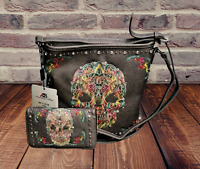 Montana West Concealed Carry Purse Wallet Country Sugar Skull Crossbody Bag