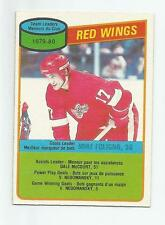 1980-81 OPC #16 MIKE FOLIGNO DETROIT RED WINGS TEAM CHECKLIST  O-PEE-CHEE