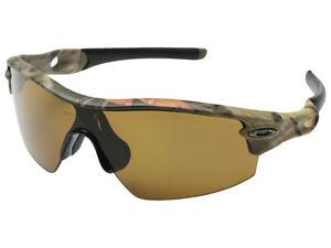 Oakley Radar Pitch Polarized Sunglasses OO9052-03 Woodland Camo/Bronze