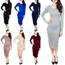 Stretch, Bodycon Full-Length Casual Dresses