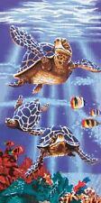Sea Turtles Swimming Reef Pool Bath Beach Souvenir Cotton Towel 30X60 NEW