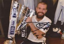 PRESTON: JOHN WELSH SIGNED 6x4 PLAY-OFF FINAL TROPHY CELEBRATION PHOTO+COA