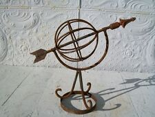"15"" Wrought Iron Sundial Garden Obleisk - Home and Garden Art"