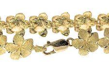 14KT. Gold Hawaiian 12mm Plumeria Flower Bracelet FIne Jewelry
