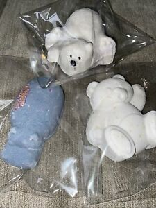 LUSH 3 Most Popular Bath Bombs Hippo Polar Bear Teddy New Sealed Packaging Gift
