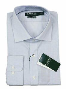 Ralph Lauren Classic Fit Non-Iron Long Sleeve Button Down Shirt 17.5-34/35 NWT