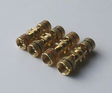Lot of 4 Nice quality Gold plated speaker binding post terminals 2 Pair