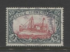 1901 German colonies SOUTH WEST AFRICA  5 Mark Yacht issue used SWAKOPMUND