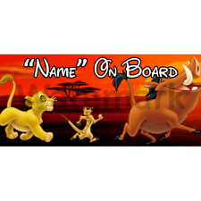 Roi lion disney personnalisé bébé à bord voiture signe (4)