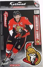 "Daniel Alfredsson Ottawa Senators~NHL~FATHEAD~Decal Set (4) 10"" x 16"" Ships FREE"