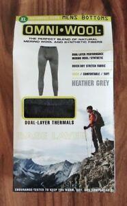 NIB Men's OMNI * WOOL Heather Gray Bottoms Base Layer Thermal Pants Size 2XL XXL