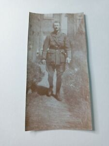 1900's Vintage Photograph Picture 2.25 x 4.50 World War 1 Military Police