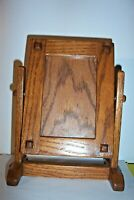 "Vintage Swivel Wooden-Glass Stand-Up Picture Frame by Mike Judah 9 3/4""x7 7/8"""