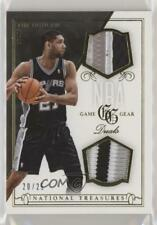 2013-14 Panini National Treasures NBA Game Gear Duals Prime /25 Tim Duncan #20