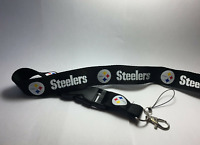 Pittsburgh Steelers Lanyard ID Badge Key Chain Clip Detachable Ticket Holder USA