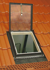New Access 46 x 75 cm Top Hung Roof Window Loft Exit rooflight with Flashing Kit