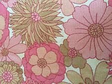 stunning vibrent 1960s flower power fabric curtains by st michael,163w by 185l