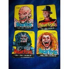 Fright Flicks - 1988 topps - WRAPPERS only set of 4 , Freddy Krueger Predator