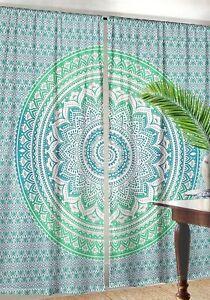 Indian Mandala Curtain Tapestry Window Curtain Indian Ombre Mandala Door Drape