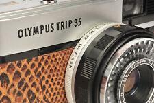 Olympus Trip 35 in Tan & Black Snake Effect Leather - 3 Month Warranty
