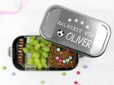 Butterbrotdose Fussball Halbzeit mit Namen personalisiert BPA-frei
