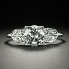 Gorgeous Engagement Wedding Vintage Ring 14K White Gold Over 2.1Ct Round Diamond