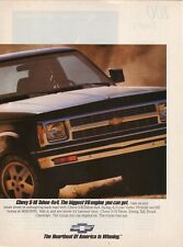 "1991 Chevrolet S-10 Tahoe 4x4 Advertisement--""The Heartbeat of America"""