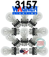 (10) WAGNER 3157, 3057, 3357, 3457 12v Dual Contact Made in USA