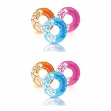 Intex 36 Inch Transparent Inflatable Round Swimming Pool Ring Float (2 Pack)