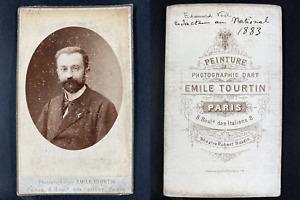 Tourtin, Paris, Edouard Veil, Rédacteur au National Vintage cdv albumen print