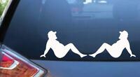 SEXY DECAL MUDFLAP TRUCKER STRIPPER GIRL FUNNY VINYL WINDOW STICKER FAT GUY Jdm