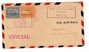 1931 NICARAGUA - HAITI OFFICIAL MAIL COVER
