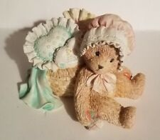 "Teddy Bear Figurine Jasmine Priscilla Hillman appx. 2.5""T x 2.5""W x 4""L Vg"