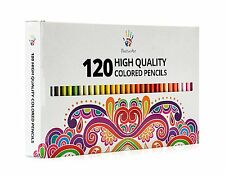 Positive Art Colored Pencils 120 Unique Colors Perfect for adult coloring books