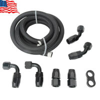 Braided Nylon 5/8 Fuel Oil Line Rubber Hose With 10AN Fitting Hose Separator Kit