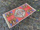 Handmade rug, Bohemian rug, Turkish vintage rug, Small rug | 1,6 x 3,1 ft