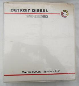 DETROIT DIESEL SERIES 60 ENGINE SERVICE SHOP REPAIR WORKSHOP MANUAL 6SE483 9501