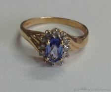 Estate Jewelry Ladies Oval Tanzanite and Diamond Ring 14K Yellow Gold Sz 6
