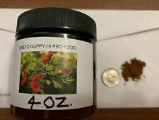 Greyd Guppy Hi Protein(54% ) Hi Density Fish Food 4 Ounce Jar Free Shipping!