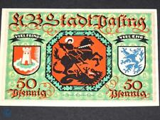 Notgeld Pasing , 50 Pfennig ohne Druckfirma und Kn , Mehl Grabowski 1050.1 g