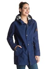 Roxy Glassy Ballina Raincoat Blue Print Jacket  Sz Medium ERJJK03138