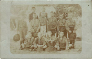 PC SCOUTING, HUNGARIAN SCOUTS, KAFTENECKER, Vintage REAL PHOTO Postcard (b28340)